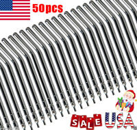 50PCS USA Sale Dental Air Water Spray Syringe Metal Alloy Nozzles/Tips/Tubes FDA