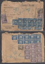 GB 1935 POSTAGE DUE COVER MULTIPLE POSTAGE DUES (ID:R44650)