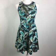 Victorias Secret PINK Skater Dress Palm Leaf Print Sleeveless Tank Size Medium