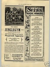 1929 PAPER AD Seiss Noisemakers Rooters Bells Cymbell Wyandotte Toy Pump Gun