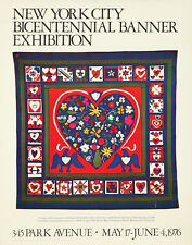 Original Vintage Poster New York City NYC Bicentennial Banner Exhibition 1976