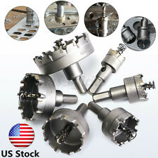 6 PCS Carbide Tip Drill Bit Hole Saw Set Drill Cutter Tool Metal Alloy  USA