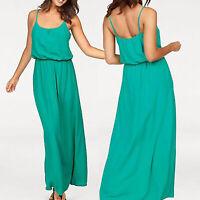 tolles MAXI Kleid Gr.38/40 Maxikleid Sommerkleid Viscose grün Lang Strand