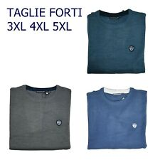 maglione pullover maglia da uomo invernale di in lana taglie forti blu 4xl 5xl