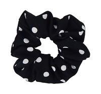 Ella Jonte Rockabilly Scrunchie Haargummi schwarz weiß Punkte Retro gepunktet