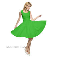 Maggie Tang 50s VTG Retro Pinup Hepburn Rockabilly Polka Dot Housewife Dress 567