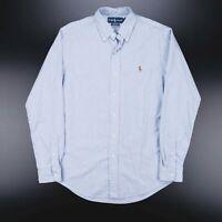 Vintage RALPH LAUREN  Blue 90s Long Sleeve Casual Shirt Mens M