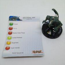 Heroclix Yu-Gi-Oh! Series 1 set Des Feral Imp #004 Common figure w/card!