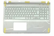 New Sony Vaio SVF152C29M SVF1521A1EW White Palmrest with UK Backlit Keyboard