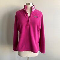 Vineyard Vines Quarter Zip Fleece Pullover Jacket Hot Pink Small S