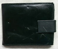 Wallet Vintage Leather 1990'S BLACK ZIPPED COIN POCKET