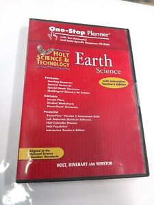 Holt Science & Technology Earth Science One-Stop Planner Cd w/ Test Generator