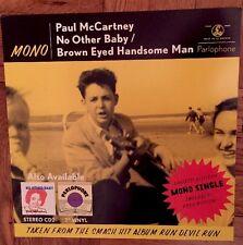 Paul McCartney Mono Devil Run Poster Flat Square Promo 12x12 The Beatles RARE