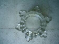 "Glass Snowflake Shaped Tea Light Candle Holder 3 ¼"""