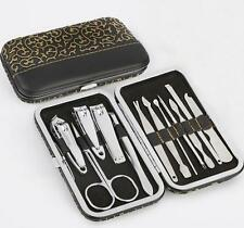 12 PCS Pedicure / Manicure Set Nail Clippers Cleaner Cuticle Grooming Kit Case x