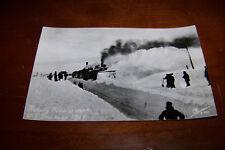 Rare Vintage RPPC Real Photo Postcard Rotary Plow at Work U P Blockade 1917