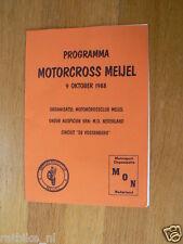1988 MOTORCROSS MEIJEL PROGRAMME 9 OKTOBER DE VOSSENBERG