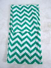 White Green Zig Zag Infinity Eternity Scarf Winter Fall 34""