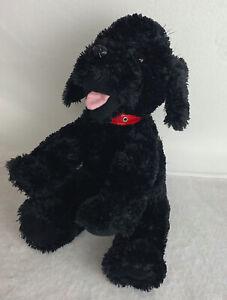 Pawsenclaws Plush Dog Black Puppy Red Collar Stuffed Animal Custom Bear Makers