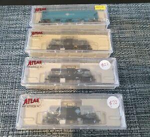 Atlas N Scale ADM Tank & Grain Carriages 4 Pack