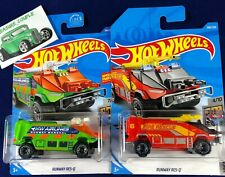 Hot Wheels - Lot of 2 - RUNWAY Res Q - Airport Fire Rescue - Red & Green - C187