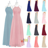 Long Formal Chiffon Evening Bridesmaid dresses Party Ball Gown Prom Dress