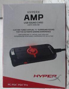 NEW OPEN BOX HyperX HX-USCCAMSS Amp USB Sound Card Black $100