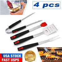 BBQ Grilling Utensil Tool Set 4PCS Stainless Steel Heavy Duty Grill Accessories