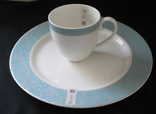 Monsoon Home by Denby-Langley Lucille Teal Dinnerplate and Cup New other