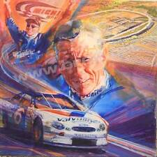 """The Ageless Mark Martin"" Signed Original George Bartell Watercolor, pen and ink"