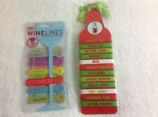 Fred Wine Lines Mudpie Beer Belts Holiday Party Tags for Glasses Bottles Lot 2