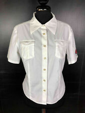 ICEBERG Camicia Donna Cotone Bianca Woman Cotton Shirt Sz.M - 44