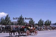 KODACHROME 35mm Slide Parade Native American Indians Horses Wagon Old Buses 1964