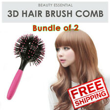 SOL Bundle of 2. 3D Hair Brush. Detangles & create natural long wavy, sexy curls