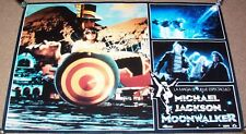 MICHAEL JACKSON STUNNING RARE SPANISH PROMO FILM POSTER 'MOONWALKER' FROM 1988