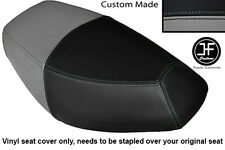 BLACK AND GREY VINYL CUSTOM FITS PULSE SCOUT 50 BOATIAN DUAL SEAT COVER ONLY