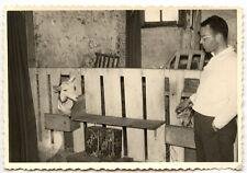 Homme bergerie mouton brebis biquette - photo ancienne an. 1950