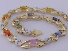 Natural Sapphire Yellow Gold Fine Bracelets