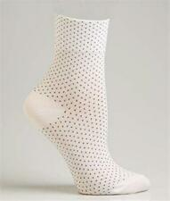 HUE 165158 Women's Set Of 3 White/ Black Dot Fine Pixie Socks One Size