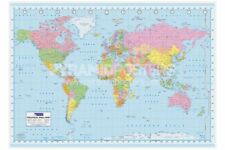 World Political MAP   Collections Poster Print, Wall Decor 36x24in