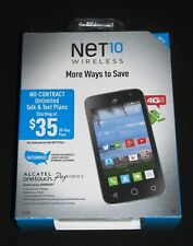 Brand New Sealed Net10 Alcatel Onetouch Pop Star LTE2 Quad-Core Smartphone-Black