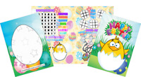Pack of 12 - Easter Fun and Games Activity Sheets - Party Bag Books Fillers
