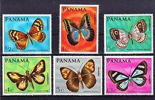 PANAMA 1968 BUTTERFLIES  SC# 483 - 483E MINT NEVER HINGED SET CV: $22