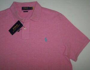 NWT Polo Ralph Lauren HAMPTON PINK HEATHER Classic Fit Shirt Men's L BLUE PONY