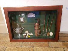The Golf Club Cabinet Wooden Golf Ball Case Rack Wall Mount Souvenir