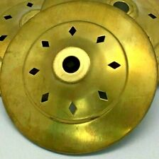 """N-100 Vented Brass Heat 3 3/4"""" Vase Cap for Stain Glass Lamp Shades and Repairs"""