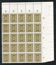 Indonesië Zonnebloem  17 A postfris veldeel van 25; 1 x gevouwen tussen zegels