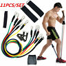 11pcs/Set Pull Rope Exercise Resistance Bands set Home Gym Equipment Fitness