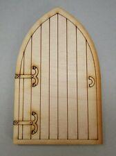 Wooden Fairy Door - Castle Fairy Door Craft Shape. Designed & Made in the UK