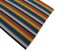 3Ft Multi-Color Flat Ribbon Zippable Cables 28 Strands OD-2mm- 40 Conductors